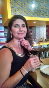 Katie Madigan and her fave wine, zinfandel