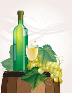 the-glass-of-wine-bottle-old-barrel-and-grape-vector_fJO1blw__L